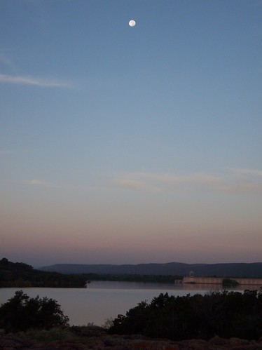 usa moon lake america sunrise dawn texas peace serenity hillcountry moonset