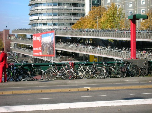 Floating Bike Parking at Amsterdam Central Stations
