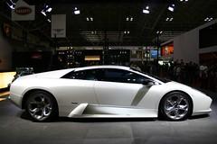 executive car(0.0), lamborghini reventã³n(0.0), automobile(1.0), automotive exterior(1.0), wheel(1.0), vehicle(1.0), performance car(1.0), automotive design(1.0), auto show(1.0), land vehicle(1.0), luxury vehicle(1.0), lamborghini murciã©lago(1.0), supercar(1.0), sports car(1.0),