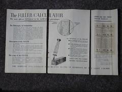 Fuller Calculator manual front