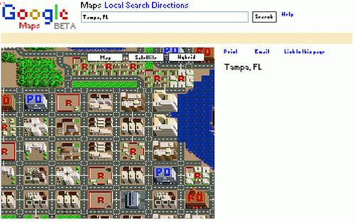 google maps 8bits | google8bitmaps.ytmnd.com/ | Spiff | Flickr