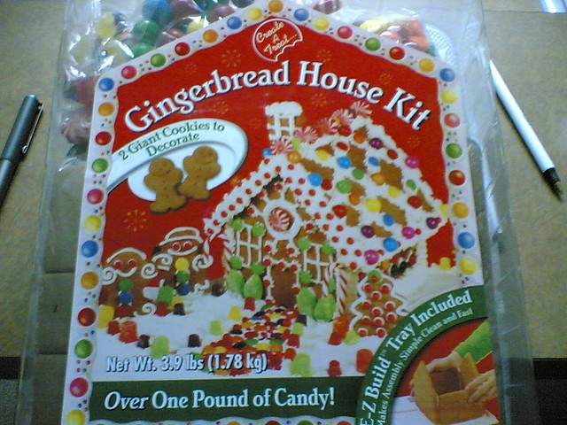 Ten buck Target Gingerbread House kit   With over One ...