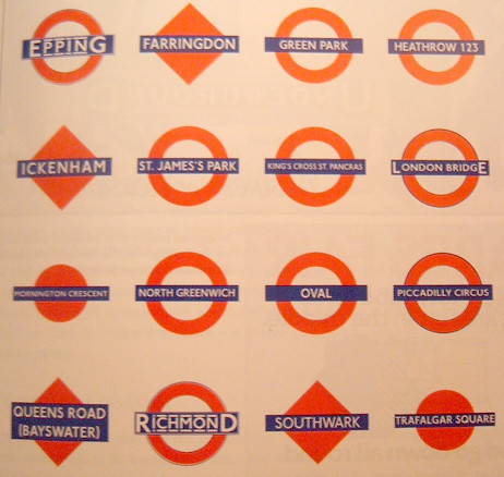 Variety of London Underground Logos and Roundels