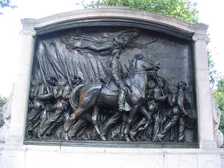 Image of Robert Gould Shaw and Fifty-fourth Regiment Memorial. massachusetts unitedstates america boston newengland