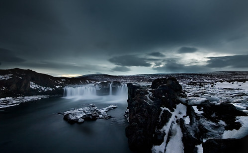 Godafoss at nightfall