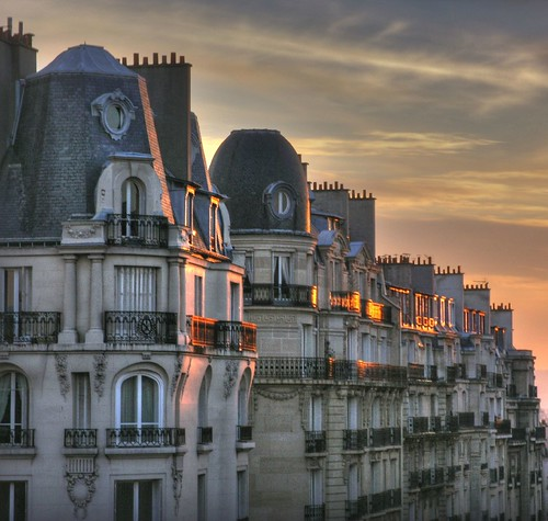 sunset over Paris rooftops - III