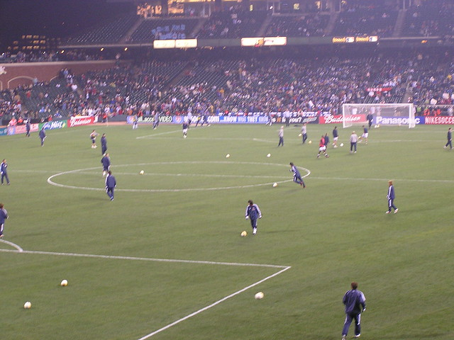 US v. Japan in San Francisco: warmups