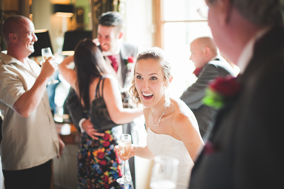 Bride, Jen, at her Bucks wedding. Photo by Will Strange, London based wedding photographer.