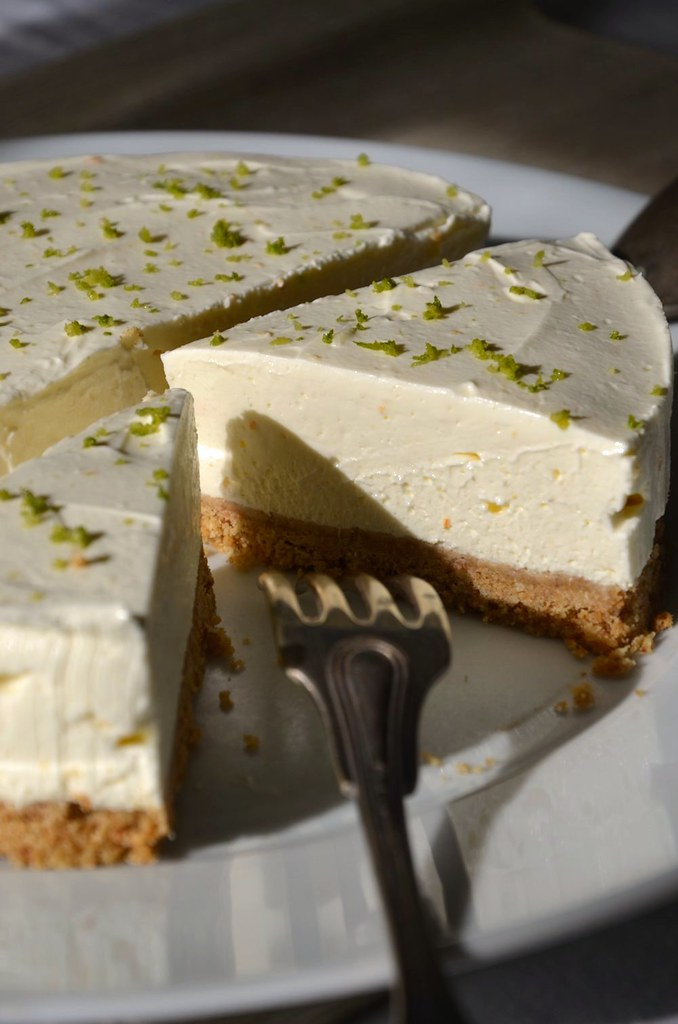 Cheesecake sans cuisson au citron vert