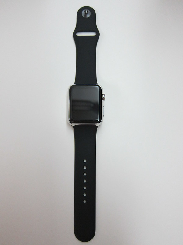 Apple Watch 42mm Black Sport Band - With Apple Watch
