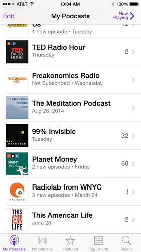 Podcast app iOS