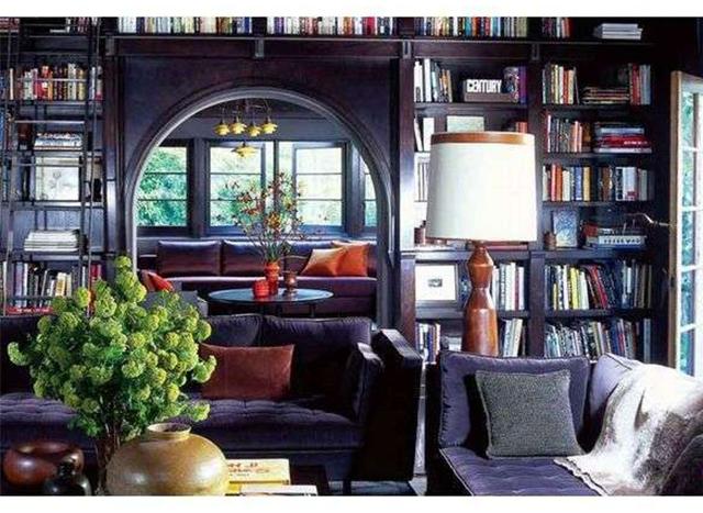 Кабинет и библиотека в доме Джейсона Стейтема