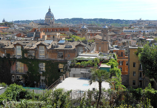 city roof italy holiday rome rooftop landscape view