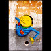 Grottaglie. Street art by Os Gemeos for Fame Festival by R come Rit@