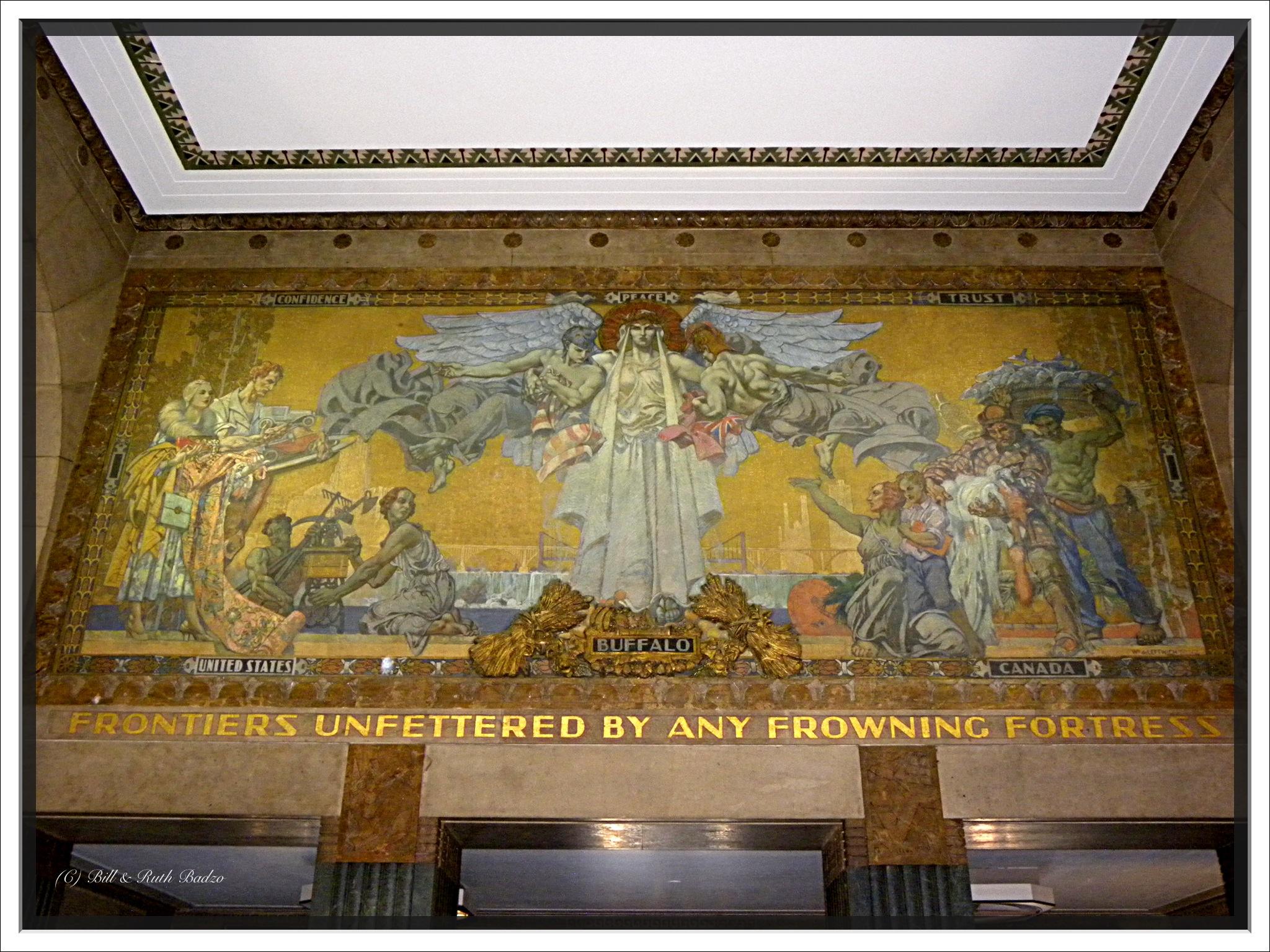 Buffalo newy york city hall interior mural historic for Bufflon revetement mural