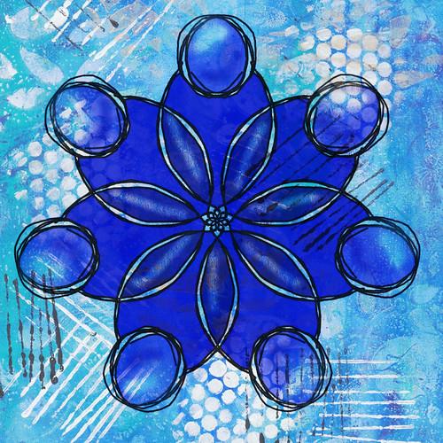 Digital painting with mandala