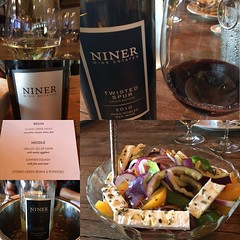 Amazing night @ninerwineestates #Greek #winedinner with #Lantides wines. Thank you @moring and Ryan for the opportunity to revisit #mygreekodyssey #shareslo