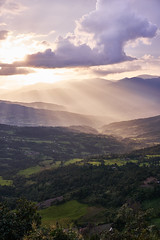 Sunrays over the valley