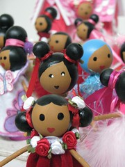 group of clothespindolls