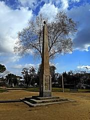 Solar obelisk (19th century) at the Villa Comunale in Naples