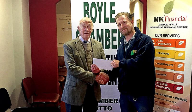 "Rory / Bodo - Boyle Chamber cheque presentation to Church of Ireland"" realboyle Boyleodo"