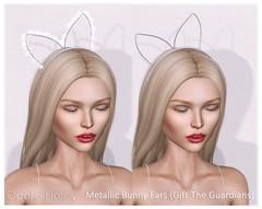 Opale Hair . Gifts 2 Metallic Bunny Ears . January 2017