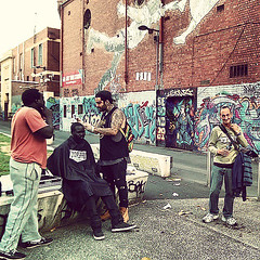 Renegade Barber Gives Haircuts To The Homeless While Overcoming His Own Addiction
