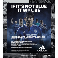 7/22 - adidas Chelsea FC Jersey Launch @ adidas sports performance store 1-3 PM