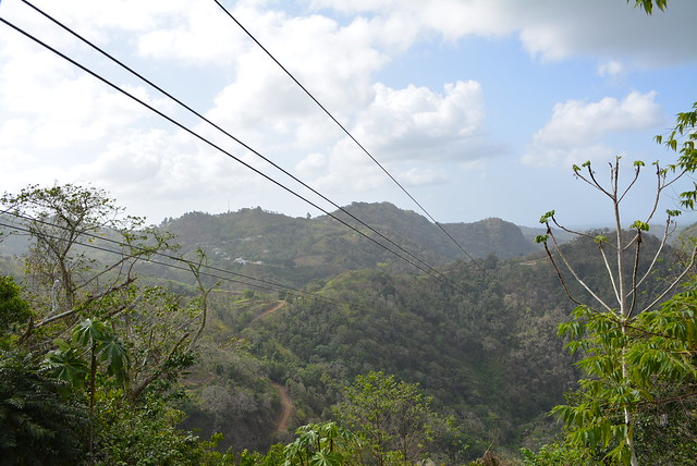 The view of the mountains of Orocovis while waiting for my turn on the zipline.