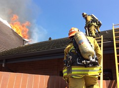 LAFD Fights Brush Fire Extending To Church