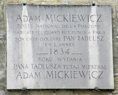 Photo of Adam Mickiewicz marble plaque