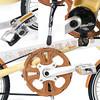 186-STRB-EVO-001 STRIDA 2015年-18吋EVO版折疊單車(碟剎)內變3速-奶油色(含原廠前後燈.鋁合金後貨架)6