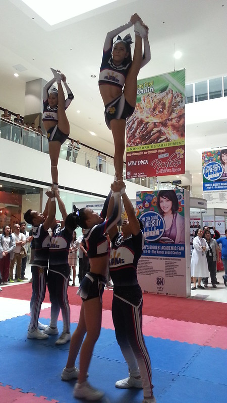 Davao Photos: National University (NU) Pep Squad at SM Davao's University Fair 2015 - DavaoLife.com 20150709_114507