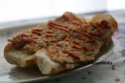 Singaporean Roti John with Sardines 8