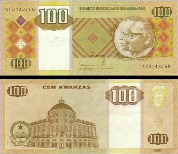 100 Kwanzas Angola 1999, Pick 147a