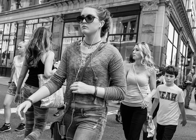 "New York City Street Scenes - Crossing the Street (""Yeah"")"