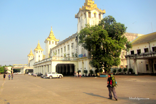 Yangon Central Railway Station Myanmar
