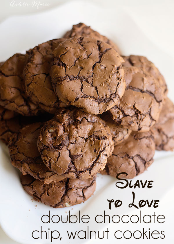 Slave to love - love potion cookies from Disneys Descendants movie, double chocolate chip and walnut cookies