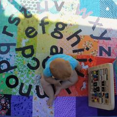 Rainbow Alphabet Baby Quilt