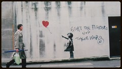 Banksy - shot by Steve Lazarides, Lazarides Gallery, Upper Ground