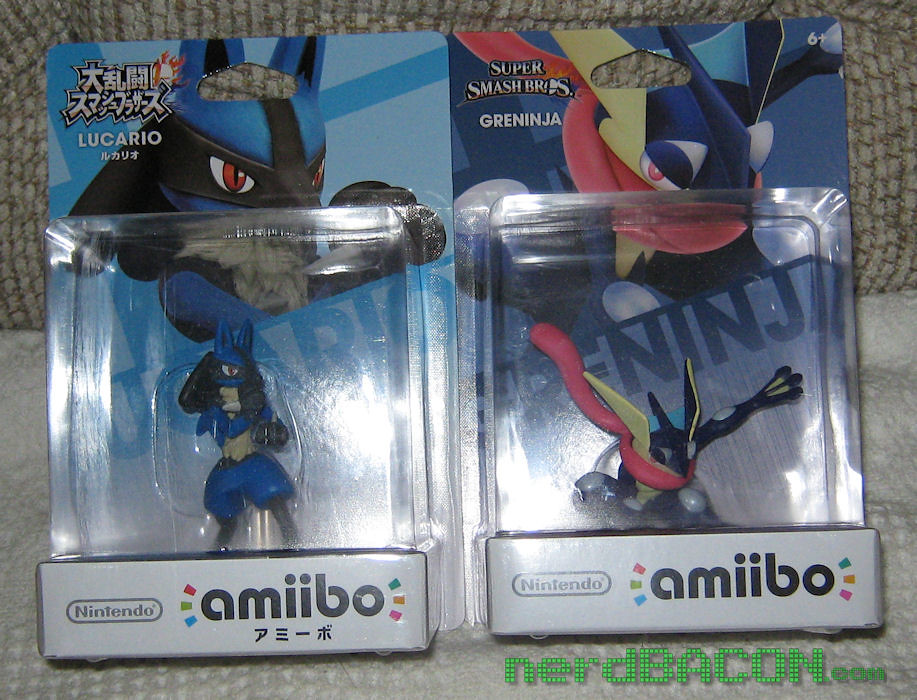 Japanese Lucario And Us Greninja Amiibo Japanese Edition O Flickr