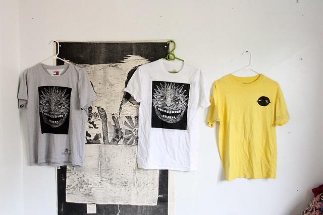 woodcut tshirt print