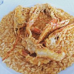 Porzioncina di riso #scampo #food #cibo e finalmente senza panna