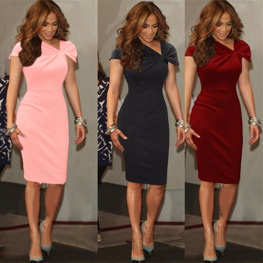 Celebrity office work women 39 s formal career business party for Pencil dress for wedding