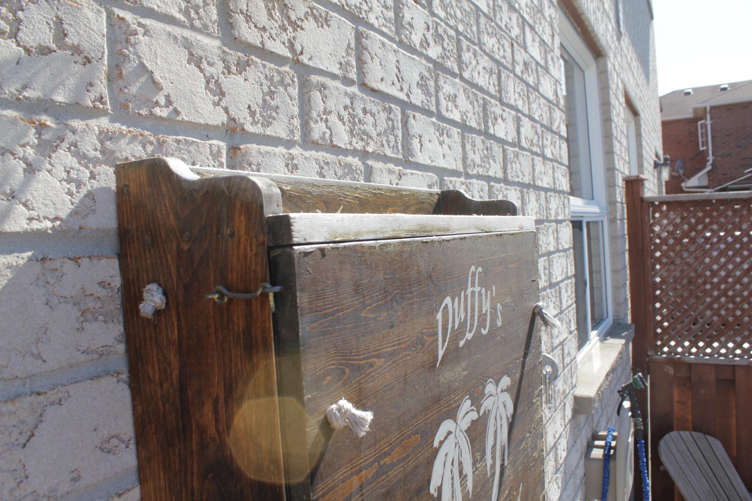 fold down backyard patio bar