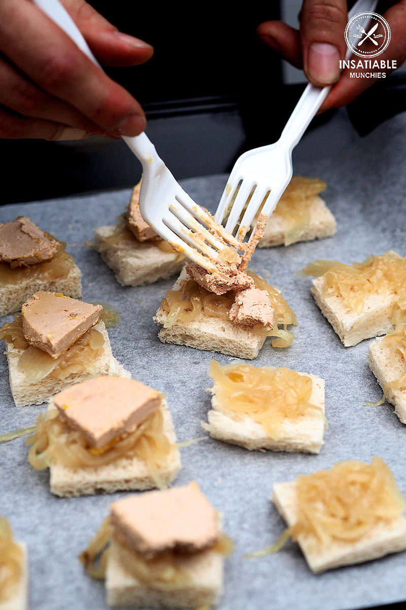 Review of bbr french world festival foie gras canapes for Foie gras canape