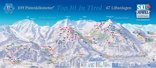 Alpbachtal Wildschönau - Ski Juwel - mapa sjezdovek