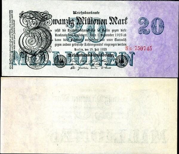 20 000 000 nemeckých mariek Nemecko 1923, Pick 97