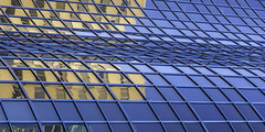 curving Facade In Blue