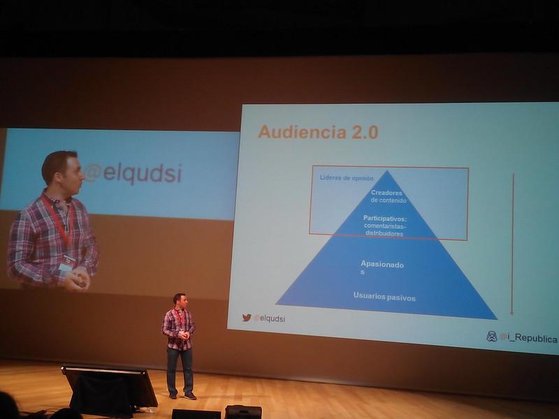 Ismael El-Qudsi mostrando la audiencia 2.0